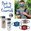 Bundle & Save: Children's Face Mask & Water Bottle with Custom Imprint $30.00-39.99