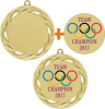 Custom Front Medallions with Color Imprint Custom Front Medals