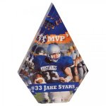 Diamond Acrylic Award with Color Imprint Acrylic: Imprinted Series