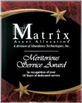 Red Marble Shooting Star Acrylic Award Recognition Plaque Acrylic: Plaque Series