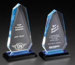 Acrylic Vertical Faceted Impress Award Acrylic: Reflective Color Series
