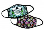 Pre-Designed Face Mask, Double Sided Triple Layer: Smiling Skulls Apparel & Other Wearables