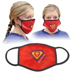 Double-Sided Face Mask with Custom Imprint, Triple Layer Apparel