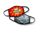 Pre-Designed Face Mask, Double Sided Triple Layer: Duct Tape Warning Apparel