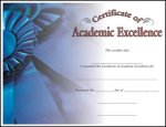 Award Certificate, Academic Excellence Award Certificates, Horizontal Color