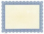 Blank Sunray Certificate, Multiple Colors Blank Certificates