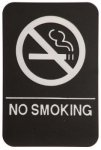 No Smoking Sign with Braille Text, Black Braille Signs, ADA Compliant