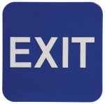 Exit Sign with Braille Text, Blue Braille Signs, ADA Compliant
