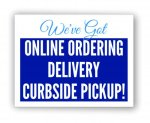 Curbside Pickup Aluminum Sign COVID-19 Signs