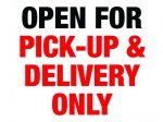 Pick-Up and Delivery Aluminum Sign COVID-19 Signs