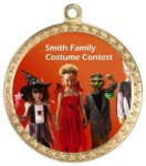 Halloween Medallions with Color Imprint Custom Front Medals