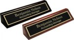 Desk Wedge with Name Plate, High Gloss Finish Desk Wedges & Name Plates