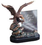 Eagle On Rock With Glass Eagle Gifts & Awards