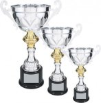 Silver Metal Loving Cup with Gold Accent Economy Series