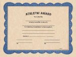 Athletic Award Certificate Fill In The Blank Certificates