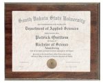 Cherry Finish Slide in Photo/Certificate Frame Plaque Frames & Albums: Engravable Series