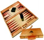 Backgammon Game with Engraved Case Games and Entertainment