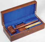 Deluxe Gavel Presentation Set, Genuine Walnut Gavels