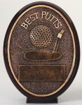 Oval Resin Best Putts Trophy Golf Trophies