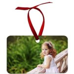 Double-Sided Imprinted Ornaments: Rectangular, 2 X 3 Household Gifts & Accessories