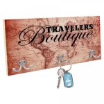 Key Hanger with Large Hooks, Color Imprint Interior Signs