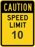 Speed Limit Sign, metal, value may be customized Jobsite Signs