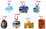 Double-Sided Ornaments with Color Imprint Less than $20