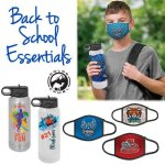 Bundle & Save: Children's Face Mask & Water Bottle with Custom Imprint Made in the U.S.A.