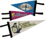 Pennants with 2 Sides Imprinted Mom, Dad & Grad
