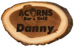 Elm Slice Engraved Name Badge, 2.00 X 3.00 Name Badges