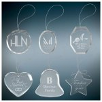 Glass Ornaments with Engraving Ornaments