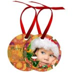Double-Sided Imprinted Ornaments: Round & Oval Ornaments