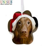 Double-Sided Imprinted Ornaments: Paw Shape Ornaments