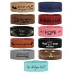 Cuff Bracelet, Leatherette in 11 Colors Other Wearable Imprinted Items