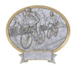 Bicycle Road Racing Oval Legend Award Oval Resin Plaque Series