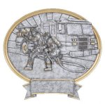 Firefighter Oval Legend Award Oval Resin Plaque Series