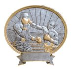 Boxing Oval Legend Award Oval Resin Plaque Series