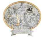 Police Oval Legend Award Oval Resin Plaque Series