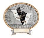 Drama Oval Legend Award Oval Resin Plaque Series