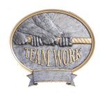 Teamwork Oval Legend Award Oval Resin Plaque Series