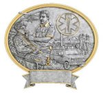 EMT Oval Legend Award Oval Resin Plaque Series