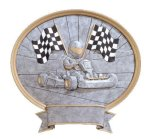 Go-Cart Racing Oval Legend Award Oval Resin Plaque Series