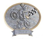 Motorcross Oval Legend Award Oval Resin Plaque Series