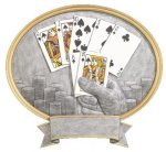 Texas Hold'em Oval Legend Award Oval Resin Plaque Series