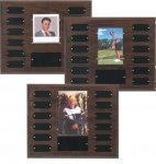 Cherry Finish Photo Perpetual Plaque, 3 Photo Sizes Perpetual Plaques