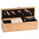 Bamboo Wine Box With Tools Special Occassions