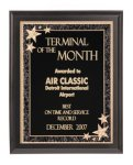 Black Economy Finish Plaque with Engraved Plate Traditional Series