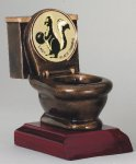 Resin Toilet Bowl Trophy with Lid Insert Trophies: Fantasy Leagues