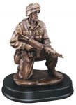 Soldier Kneeling With Rifle Down Trophies: Figurines