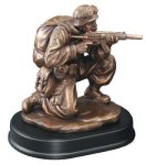 Soldier Kneeling With Rifle Drawn Trophies: Figurines